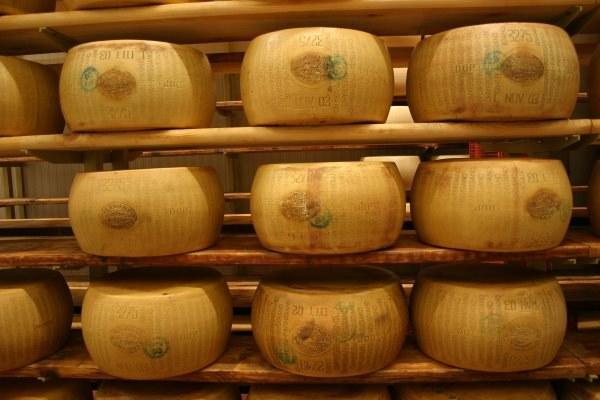 Parmigiano Reggiano, forme, caseificio