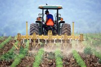Agricoltore su trattore