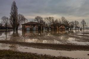 Campi allagati, casolare, danni maltempo, agricoltura