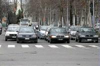 Auto nel traffico, smog, inquinamento, città
