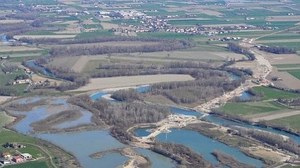 Baganza, cassa espansione, fiume