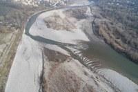 cantiere a Travo ampliamento letto fiume Trebbia