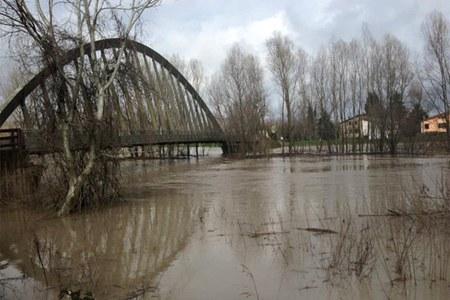 Maltempo Emilia febbraio 2016, fiume in piena - 2