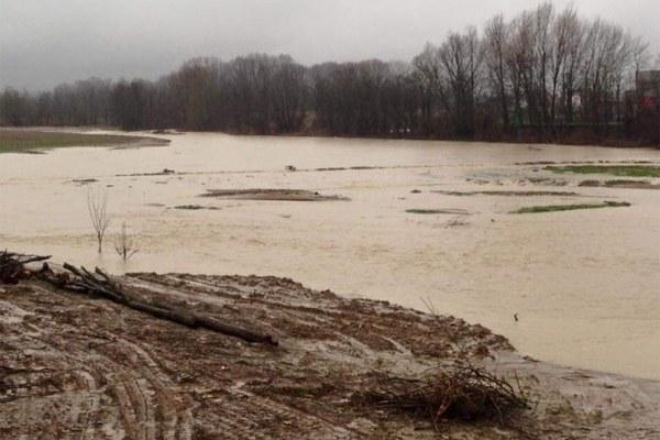 Maltempo Emilia febbraio 2016, fiume in piena - 3