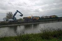 Maltempo, lavori sul Lavino, fiume, esondazione, novembre 2019