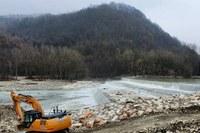 Cantiere difesa suolo a Baiso Reggio Emilia febbraio 2021