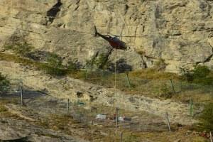 Perticara, Novafeltria (Rn) - elicottero e reti
