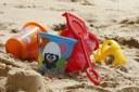 Spiaggia, vacanza, bambini, giocattoli
