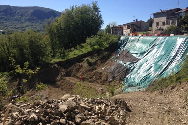Tizzano Val Parma frana, maltempo, difesa suolo