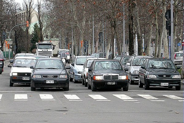 Traffico, auto, smog