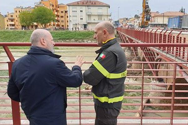 Alluvione 2019, Bonaccini a Cesena