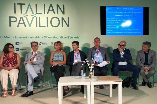 Venezia 2019_presentazione Comitato Fellini 100
