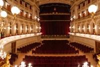 Teatro Galli, Rimini, palco e platea