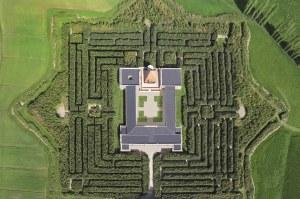 Labirinto della Masona foto aerea
