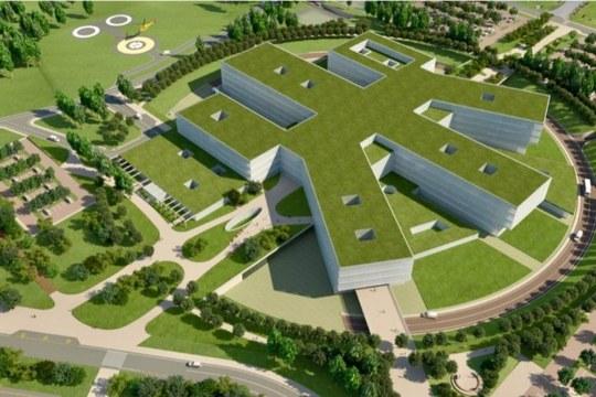 Rendering progetto nuovo ospedale di Pc- esterno