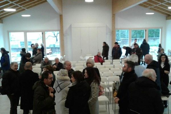 A Pretare, nel comune di Arquata del Tronto (Ascoli Piceno) inaugurata con Palma Costi sala polivalente (3 dicembre 2017)