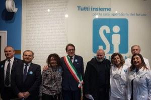 Bonaccini a inaugurazione sala operatoria ibrida a Baggiovara 21 dicembre 2018