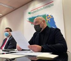 Presentazione zona rosa Bologna, Bonaccini e Donini in conferenza stampa
