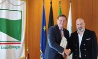 Bonaccini e ambasciatore Belgio Carruet
