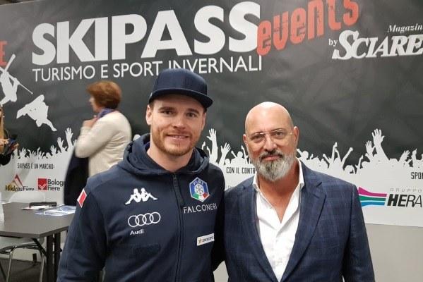 Bonaccini e Giuliano Razzoli alla presentazione del nuovo Liceo a Skypass