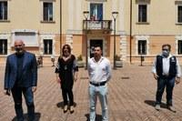 Incontro Bonaccini Priolo sindaci Fiscaglia Ostellato tromba d'aria nel ferrarese (luglio 2020) -2