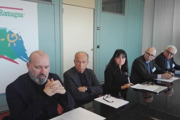 Bonaccini e Venturi alla conferenza stampa protocollo farmacie