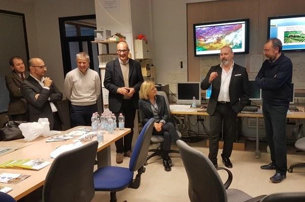 Bonaccini Gazzolo visita ad Arpae (1-12-2017)