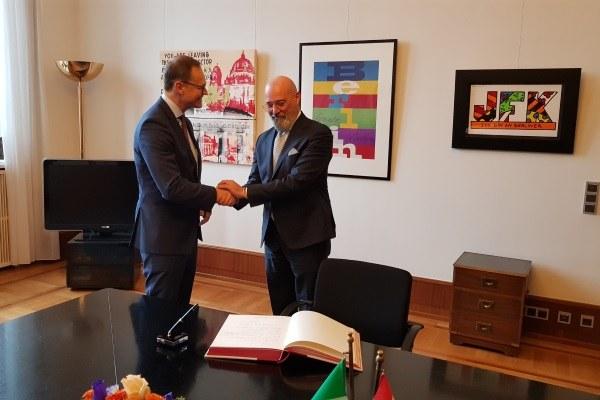 Settimana della cucina in Germania, Bonaccini incontra il sindaco di Berlino Muller