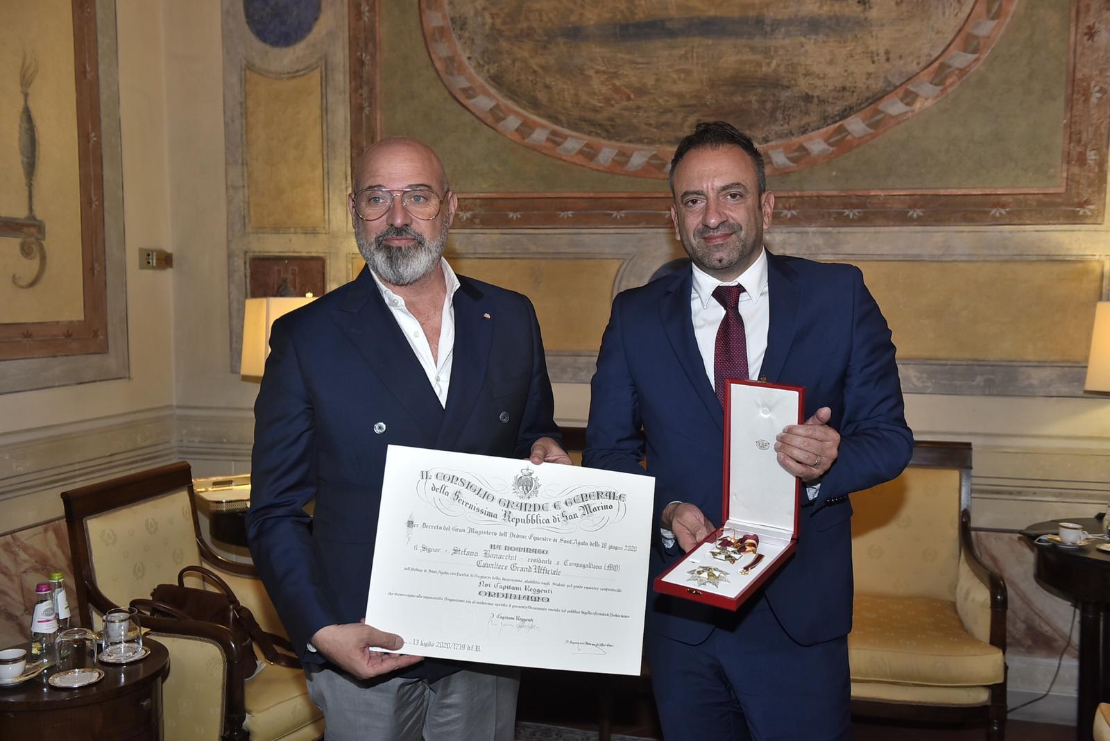 Bonaccini onoreficenza San Marino