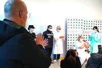 Bonaccini assiste alle vaccinazioni anti Covid 27-12-2020