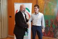 Il presidente Bonaccini premia Erik Davolio 27-12-2018 - foto 2