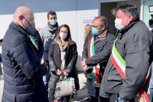 Bonaccini visita Hub vaccini San Pietro in Casale 16 marzo 2021 - 2