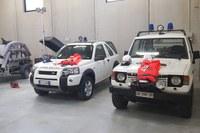 Interno capannone protezione civile Villanova Val d'Arda Piacenza (dicembre 2019)
