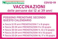 Calendario vaccinazioni giugno
