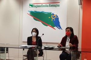 Assessora Lori e presidente Petitti conferenza stampa  Giornata mondiale contro al violenza alle donne 2020