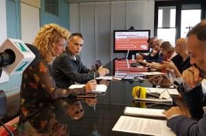 Commercio, conferenza stampa in Regione, assessore Corsini (15-7-19)