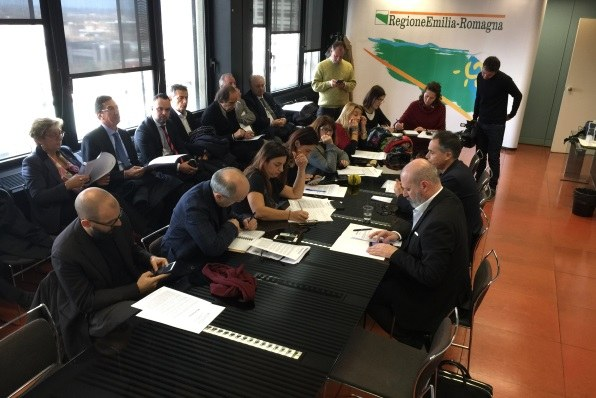 Conferenza stampa dati turismo (28-11-2017), Corsini e Bonaccini