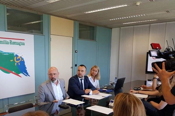 Bonaccini, conferenza stampa turismo congressuale