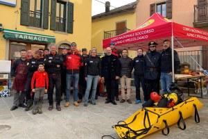 Bonaccini consegna strutture soccorso alpino Montecreto Modena febbraio 2019
