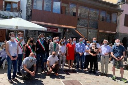 Inaugurazione cooperativa di comunità Corte di Rigoso (Pr), 5 luglio 2020