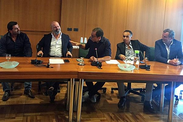 Conferenza stampa Tomba, Bonaccini, Cassani, Corsini Appennino 2018