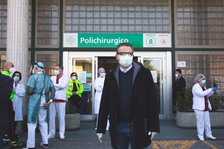 Ass. Donini visita Ospedale Piacenza - 9 aprile 2020