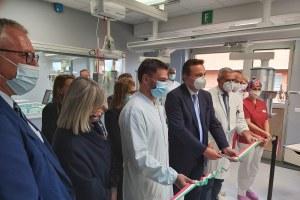 Donini inaugura a Piacenza primi 25 nuovi posti letto per terapia intensiva e semi-int. 1/10/2020