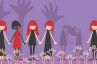 Disegno donne che si prendono per mano violenza pari opportunità
