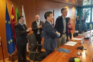 Delegazione Shandong, firma pre-accordo, 12 novembre 2018