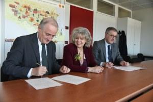 Firma protocollo Regione Unioncamere ER. Pasini, Caselli, Mazzotti