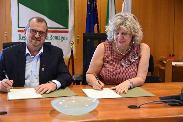 Caselli e Spigaroli, firma protocollo Chef to Chef, settembre 2019