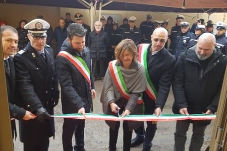 Inaugurazione nuovo Comando intercomunale Polizia locale a Fornovo di Taro (Pr), gennaio 2019
