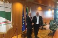 Il presidente Bonaccini riceve l'ambasciatore degli Stati Uniti in Italia, Lewis Eisenberg (15 marzo 2018)