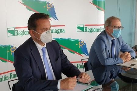 Conferenza stampa Donini Barigazzi riorganizzazione posti letto Città metropolitana 24 settembre 2020
